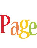 Page birthday logo