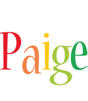 Paige birthday logo