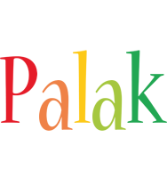 Palak birthday logo