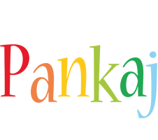 Pankaj birthday logo