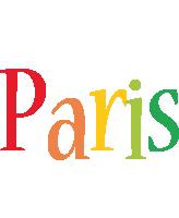 Paris birthday logo