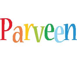 Parveen birthday logo