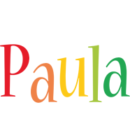 Paula birthday logo