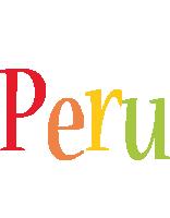 Peru birthday logo