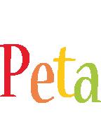 Peta birthday logo