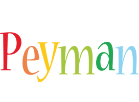 Peyman birthday logo