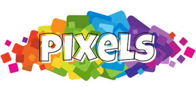 PIXELS logo effect. Colorful text effects in various flavors. Customize your own text here: http://www.textGiraffe.com/logos/pixels/