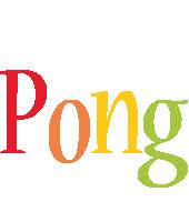 Pong birthday logo