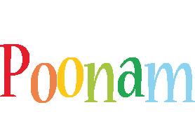 Poonam birthday logo