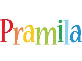 Pramila birthday logo