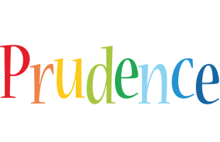 Prudence birthday logo