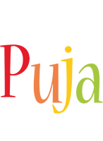 Puja birthday logo
