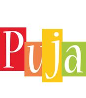 Puja colors logo