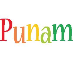 Punam birthday logo