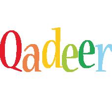 Qadeer birthday logo