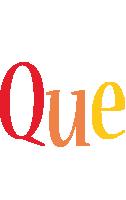 Que birthday logo