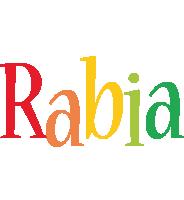 Rabia birthday logo