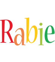 Rabie birthday logo