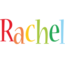 Rachel birthday logo