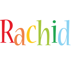 Rachid birthday logo