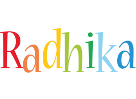 Radhika birthday logo