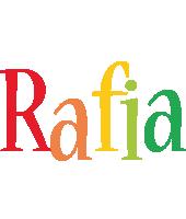 Rafia birthday logo