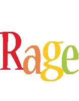 Rage birthday logo