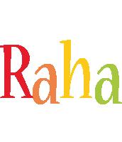 Raha birthday logo