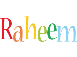 Raheem birthday logo
