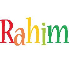 Rahim birthday logo