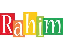 Rahim colors logo