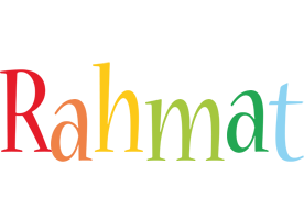 Rahmat birthday logo