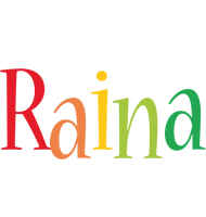 Raina birthday logo