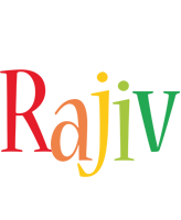 Rajiv birthday logo