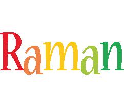 Raman birthday logo