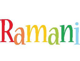 Ramani birthday logo