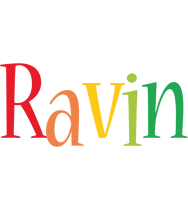 Ravin birthday logo