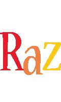Raz birthday logo