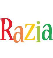 Razia birthday logo