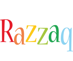 Razzaq birthday logo
