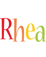 Rhea birthday logo