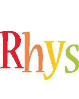 Rhys birthday logo
