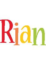 Rian birthday logo