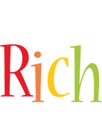 Rich birthday logo