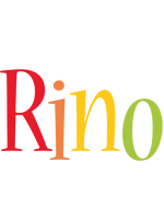 Rino birthday logo