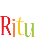 Ritu birthday logo