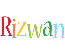 Rizwan birthday logo