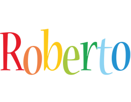 Roberto birthday logo
