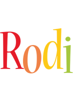 Rodi birthday logo