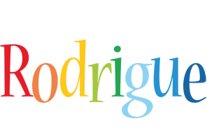 Rodrigue birthday logo
